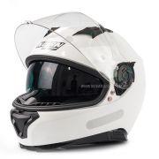 Capacete Nolan N87 Classic Metal White C/ Viseira Solar - Ganhe Touca Balaclava (AGV K1 / K3 SV)