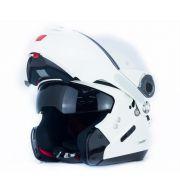 Capacete Nolan N90-2 Special Branco (15) - Escamoteável C/ Viseira Solar Interna (GANHE BALACLAVA NOLAN)