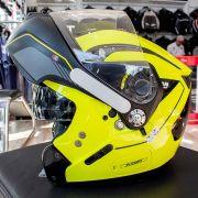 Capacete Nolan N90 Straton Amarelo Escamoteável C/ Viseira Solar Interna (GANHE BALACLAVA NOLAN)
