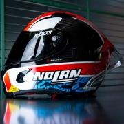 Capacete Nolan X-803 RS Ultra Carbon Alex Rins Piloto Esportivo - Ganhe Touca Balaclava