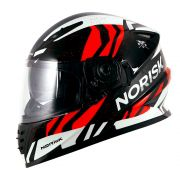 Capacete Norisk FF302 Jungle - Black/White/Red