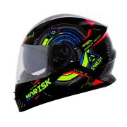 Capacete Norisk FF302 Screen - Black/Green/Orange/Blue