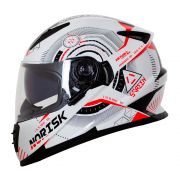 Capacete Norisk FF302 Screen - White/Black/Red