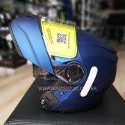 Capacete Norisk FF345 Force Monocolor Azul Fosco Escamoteável/Articulado