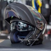 Capacete Norisk FF345 Force Monocolor Matte Black Escamoteável/Articulado