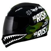 Capacete Norisk FF391 Ride Hard - Black/Green Camo