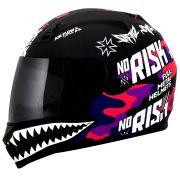 Capacete Norisk FF391 Ride Hard - Black/Pink Camo