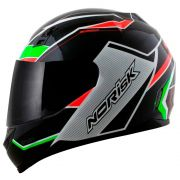 Capacete Norisk FF391 Storm - Black/Green/Red