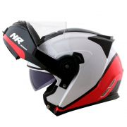 Capacete Norisk FF345 Route Chance Black/White/Red Articulado