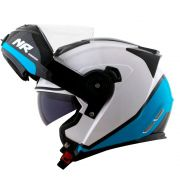 Capacete Norisk FF345 Route Chance White/Blue/Black Articulado