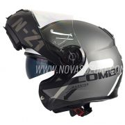 Capacete NZI Combi 2 Duo Flydeck Antracite Escamoteável Com Viseira Solar (Force)