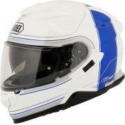 Capacete Shoei GT-Air 2 Crossbar TC-2 Branco/Azul  C/ Viseira Solar e Pinlock Anti-Embaçante - GT-Air 2