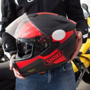 Capacete Shoei GT-Air Exposure Black/Red c/ Pinlock Anti-Embaçante