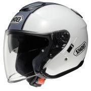 Capacete Shoei J-Cruise Corso White/Grey Aberto c/ Viseira Solar