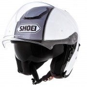 Capacete Shoei J-Cruise Corso White/Grey Aberto c/ Viseira Solar - BlackFriday