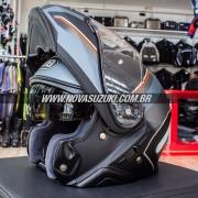Capacete Shoei Neotec 2 Excursion TC-5 Preto/Cinza Escamoteável/Articulado