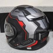 Capacete Shoei Neotec 2 Respect TC-5 Preto/Cinza/Vermelho Escamoteável/Articulado