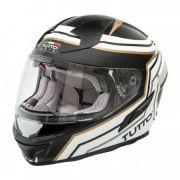 Capacete Tutto Racing Gold c/Óculos Interno - GANHE Viseira Espelhada!
