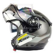 Capacete X-Lite X-1004 Charismatic Matte Silver - Escamoteável / Articulado