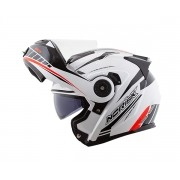 Capacete Norisk FF345 Route Motion WHITE/BLACK/RED