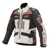 Jaqueta Alpinestars Andes Pro Drystar Tech Air - Light Gray/Black/Gray/Red