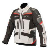 Jaqueta Alpinestars Andes Pro Drystar Tech Air - Light Gray/Black/Gray/Red