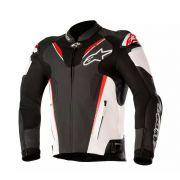 Jaqueta Alpinestars Atem V3 - Black/White/Red Couro