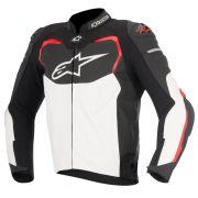Jaqueta Alpinestars Couro GP Pro (Black/White/Red) - LANÇAMENTO