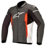 Jaqueta Alpinestars Faster - Black/White/Red Couro