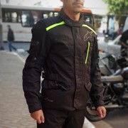 Jaqueta Alpinestars Gravity Drystar® Black/Verde (Parka Big Trail)