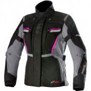 Jaqueta Alpinestars Stella Bogotá V2 Drystar Lady Black/Dark Grey/Fuchsia