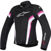 Jaqueta Alpinestars Stella T-GP Plus R V2 Air - Black/White/Fuchsia