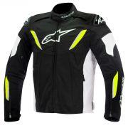 Jaqueta Alpinestars T-GP R WP - Black/Gray/Yellow Fluo