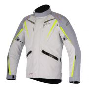 Jaqueta Alpinestars Yokohama Drystar - M.Gray/Light Gray/Yellow Fluo