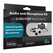 Kit Audio & Microfone Cardo Scala Rider P/ Packtalk - PRÉ-VENDA - ENTREGA APÓS 10/10
