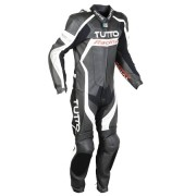 Macacão Tutto Moto Racing 1 pç Branco c/ Prata