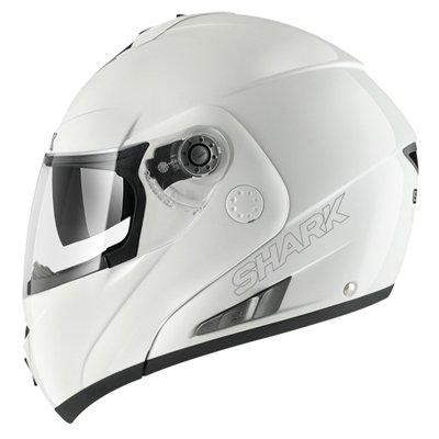 Capacete Shark Openline Prime WHU Branco Escamoteável/Articulado  - Nova Suzuki Motos e Acessórios
