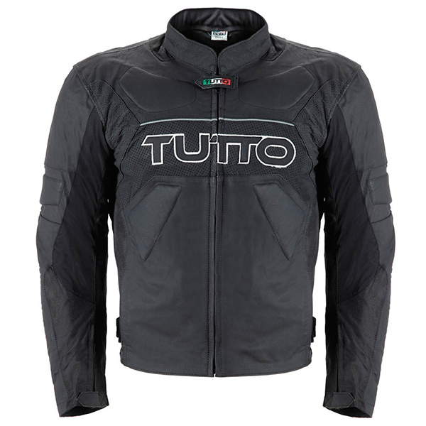 Jaqueta Tutto Tifon 2 Black Couro Esportiva  - Nova Suzuki Motos e Acessórios