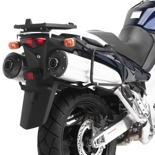 Suporte lateral Givi PL528 para V-Strom 1000 02/11  (E21 e E22/E41/E360/TREKKER) - Pronta entrega  - Nova Suzuki Motos e Acessórios