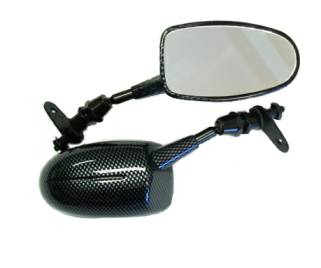 Espelho Emgo F5 Universal p/ Moto Esportiva (20 46290)  - Nova Suzuki Motos e Acessórios