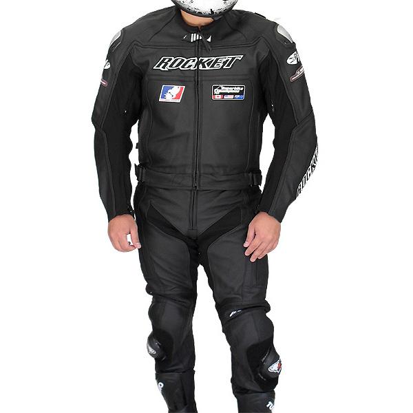 Macacão Joe Rocket Speedmaster 2 pçs Preto  - Nova Suzuki Motos e Acessórios