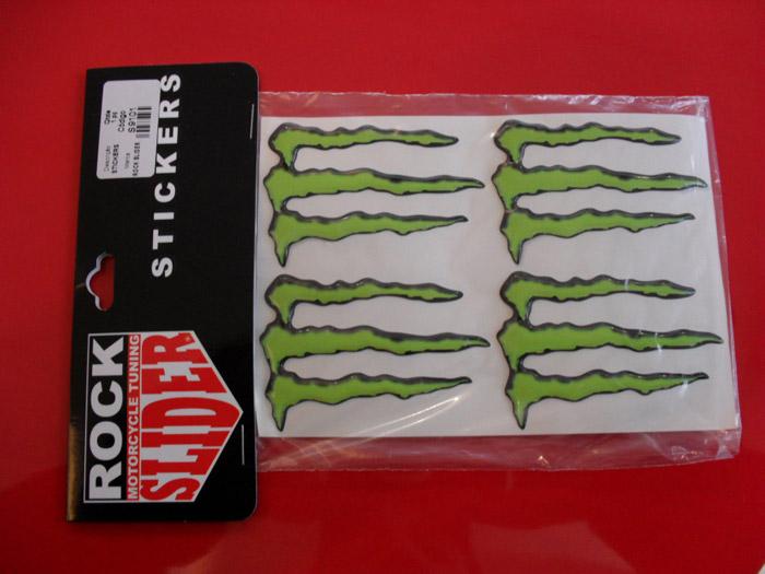 Adesivo Decorativo Monster Energy Rock Slider - Médio -  - Pronta Entrega  - Nova Suzuki Motos e Acessórios