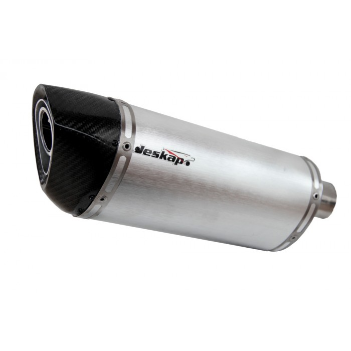Escapamento Jeskap Three Carbon Kawasaki Z750 FULL - 22cm (Alum/Preto/Aço escovado/Carbono)  - Nova Suzuki Motos e Acessórios