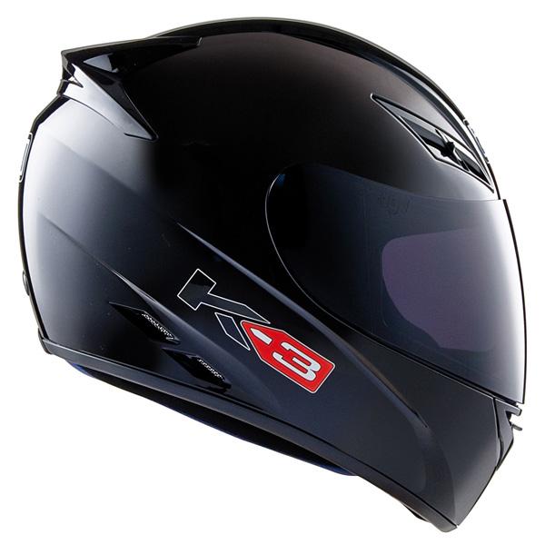 Capacete AGV K-3 Mono Black  - Nova Suzuki Motos e Acessórios