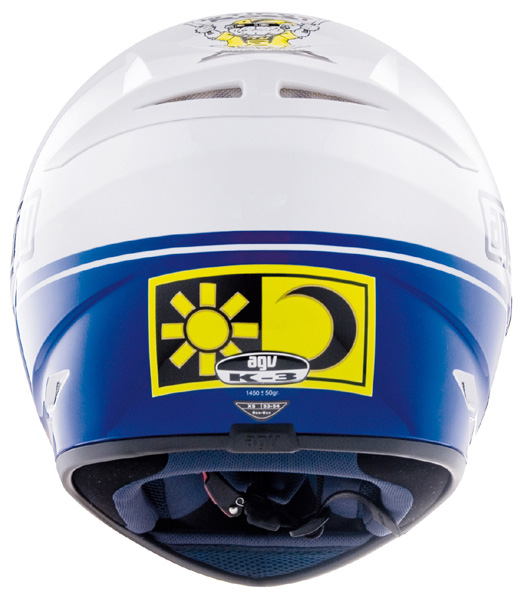 Capacete AGV K-3 Heart Réplica Oficial Valentino Rossi  - Nova Suzuki Motos e Acessórios