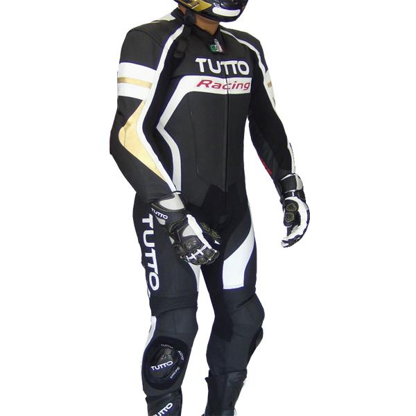 Macacão Tutto Moto Racing 1 pç Branco c/ Dourado - SÓ 54  - Nova Suzuki Motos e Acessórios