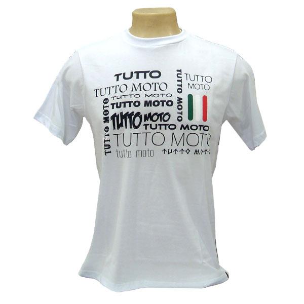Camiseta Tutto Moto Branca  - Nova Suzuki Motos e Acessórios