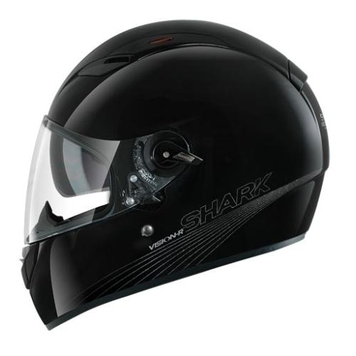 Capacete Shark Vision-R2 Blank BLK  - Nova Suzuki Motos e Acessórios