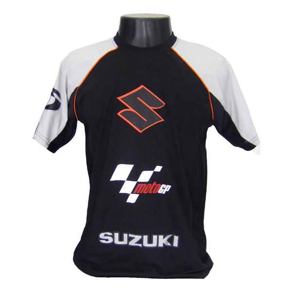 Camiseta Joc Moto GP - Preta - Suzuki  - Nova Suzuki Motos e Acessórios