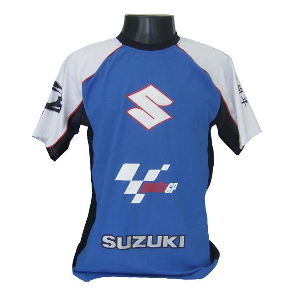 Camiseta Joc Moto GP - Azul - Suzuki  - Nova Suzuki Motos e Acessórios